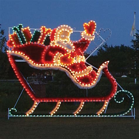 Weihnachtsdekoration Schlitten by Outdoor Decorations Santa Sleigh