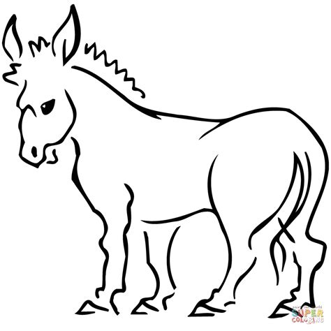 donkey coloring page  printable coloring pages
