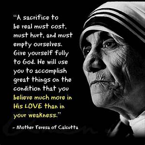 Famous Mother Teresa Quotes And Sayings - Golfian.com