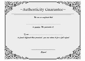 certificate of authenticity template 8 ssjpg best 10 With certificate of authenticity photography template