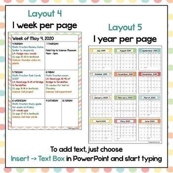 editable calendar pastel colors automatic updates