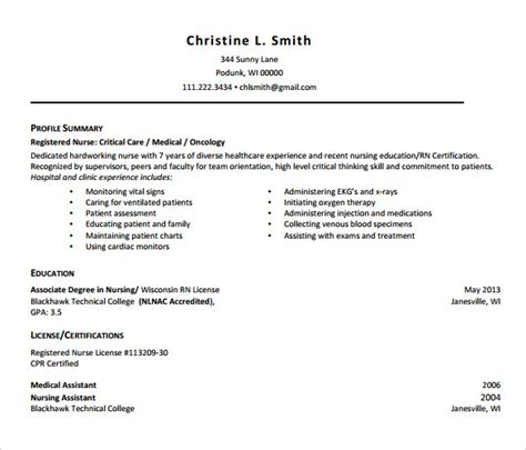 Curator Resume Sle by 28 Registered Resume Template Top 12 Details To Include