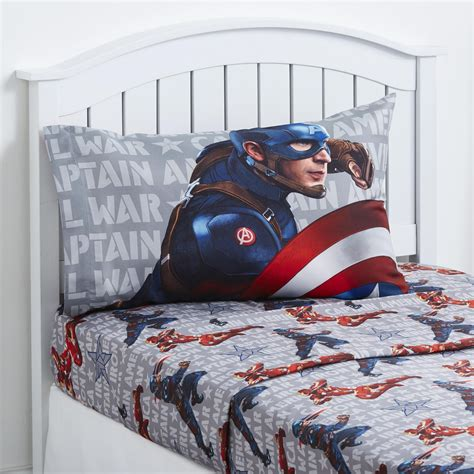 captain america bedroom marvel captain america civil war sheet set home bed