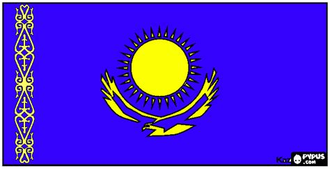 Flag of Kazakhs coloring page, printable Flag of Kazakhs