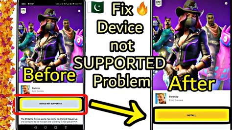 fortnite device  supported fix  android  root