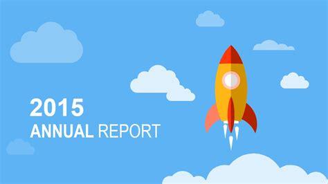 flat annual report powerpoint template slidemodel