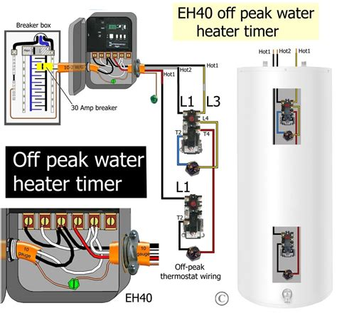 how to wire water heater thermostat in water tank