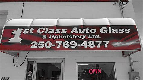 local auto upholstery shop 1st class auto glass upholstery ltd in west kelowna bc