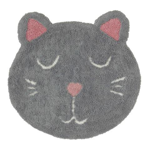 tapis enfant chat gris 80 x 80 cm mimichat maisons du monde