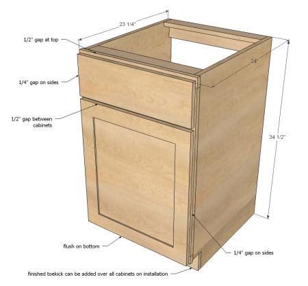 raising kitchen base cabinets ana white build a face frame base kitchen cabinet