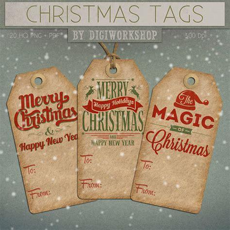 digital christmas gift tags x mas hang tags quot christmas tag