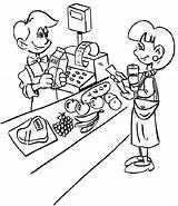 Coloring Grocery Pages Cashier Supermarket Jobs Fruits Children Pokemon Popular Fruit Doghousemusic Coloringpagesfortoddlers Enregistree Depuis sketch template