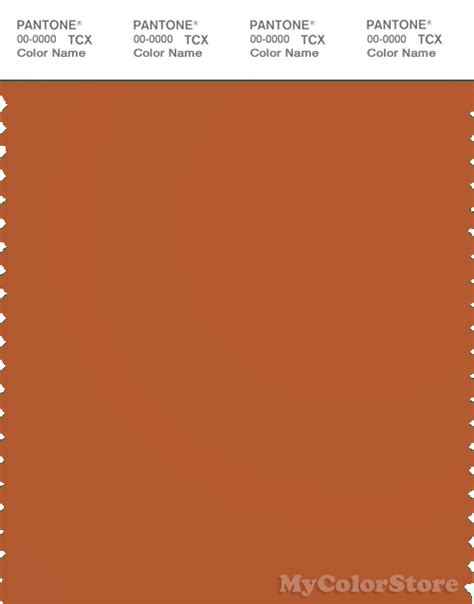 what color is rust pantone smart 18 1248 tcx color swatch card pantone rust