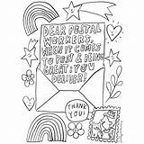 Thank Colouring Key Workers Sheets Postal Worker Say sketch template