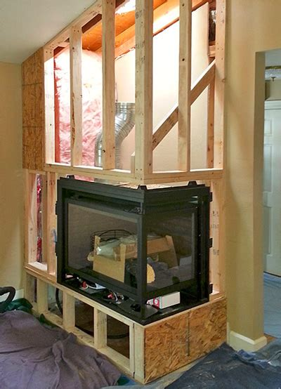custom fireplace installations confier  wood gas