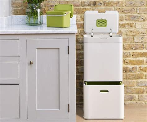 designer kitchen bins joseph joseph totem is a recycling friendly kitchen bin 3226