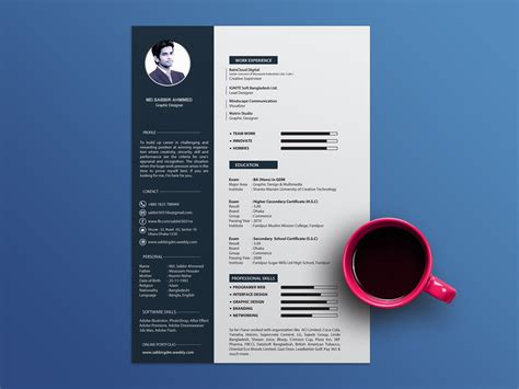 Cool Resume Templates Free by Free Cool Resume Template With Clean And Design