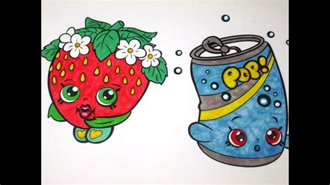 Strawberry Kiss And Soda Pops Shopkins Coloring Pages