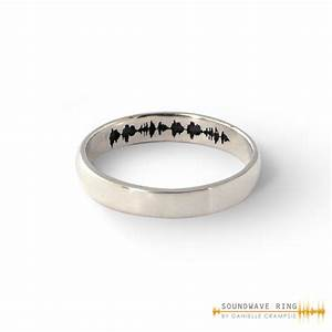 custom soundwave ring gold soundwave jewellery With wedding ring sound wave