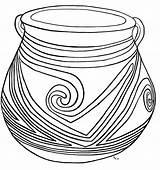 Coloring Clay Casas Jars Pot Pottery Printable Grandes Mexico sketch template