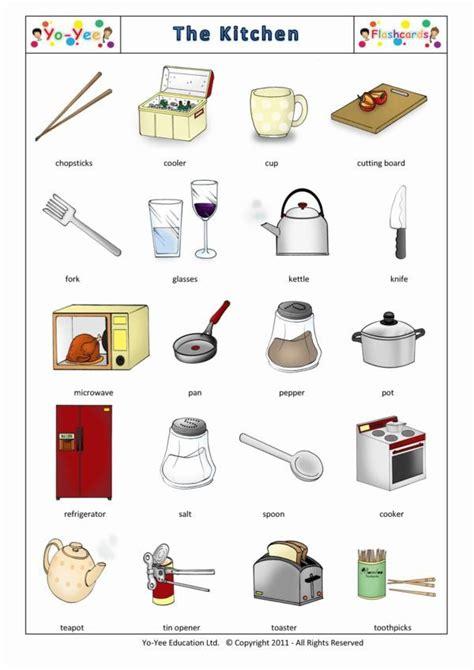 set de couteau de cuisine kitchen flash cards for children la cuisine