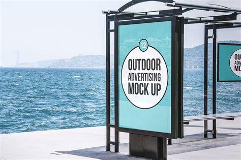 outdoor advertising mock  product mockups creative