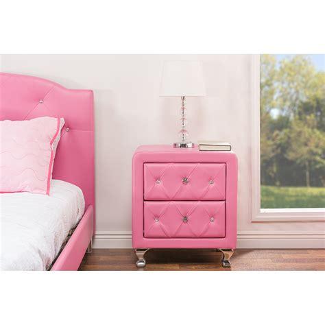 Pink Nightstand by Wholesale Interiors Baxton Studio 2 Drawer Nightstand