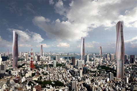 Tokyo in 2050 Partially Powered by Wind Towers | Super Radical