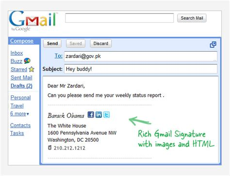 Gmail Signature Template 29 Gmail Signature Templates Sles Exles Format