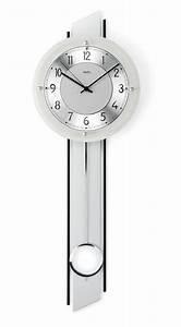 Horloge Murale Moderne : horloge murale balancier radio pilot e en cutty argent ~ Teatrodelosmanantiales.com Idées de Décoration