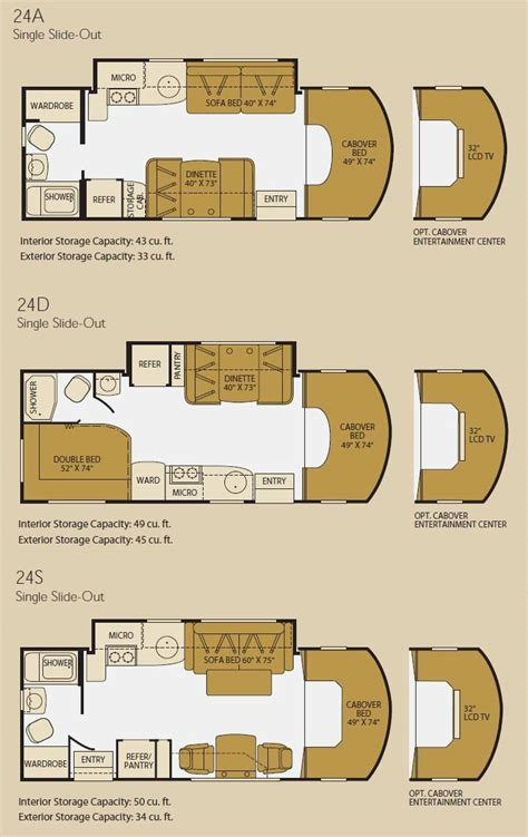 Fleetwood Class C Rv Floor Plans by Fleetwood Icon Class C Motorhome Floorplans Large Picture