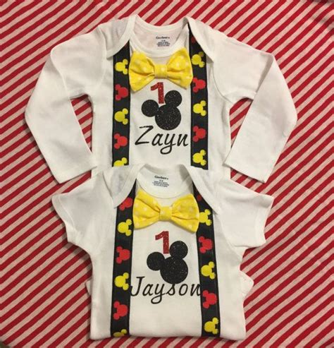 Amazon's choice for 1st birthday outfit +21. Mickey Mouse first birthday onesie with bowtie, Mickey ...