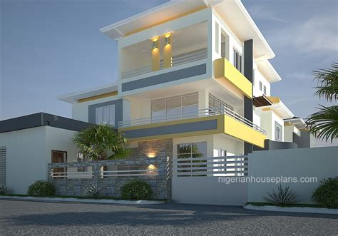 bedroom duplex pent houseref nigerianhouseplans