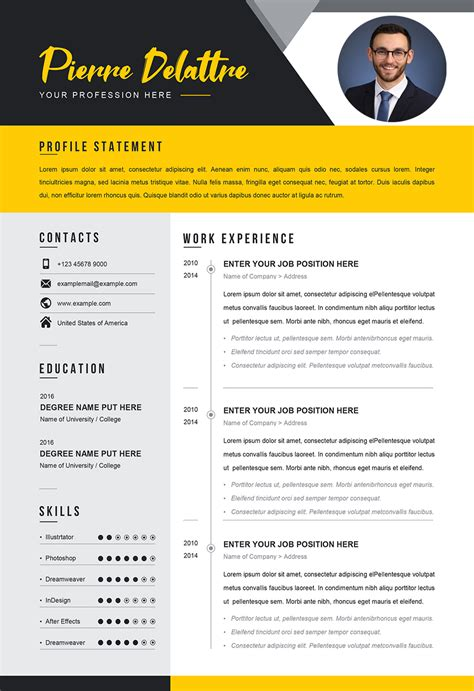sample cv  job editable cv word