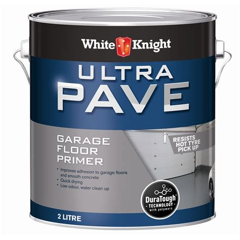 garage floor paint primer white knight 2l ultra pave garage floor primer bunnings warehouse