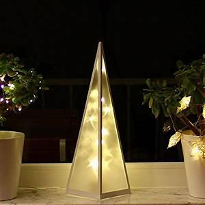 Weihnachtsbeleuchtung Innen Fenster : 3d weihnachtsbeleuchtung 45cm hologramm pyramide ~ A.2002-acura-tl-radio.info Haus und Dekorationen