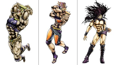 anime characters fight jojo all the characters in the new jojo s bizzare adventure