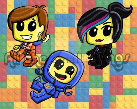 The Lego Movie Anime Lego Movie Chibis By Kasandra Callalily On Deviantart