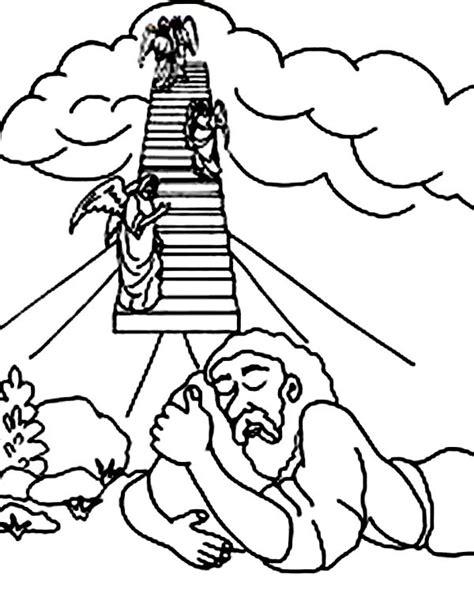 Jacob En Ezau Kleurplaat by Ladder And Three In Jacob And Esau Coloring