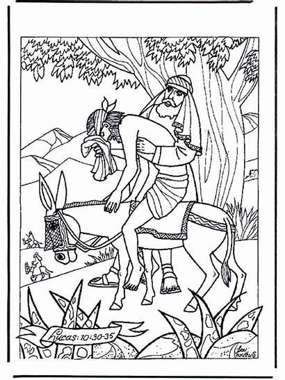 Samaritan Coloring Samaritano Bible Testament Buen Dibujos