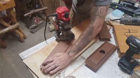teak wood light  blue resin inlay youtube