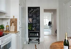 Deco Mur Cuisine : peinture ardoise on adopte la peinture ardoise dans toute la maison elle d coration ~ Teatrodelosmanantiales.com Idées de Décoration