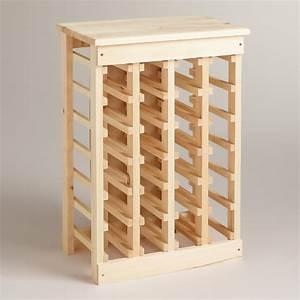 Cost Plus World Market Pine 24 Bottle Wine Rack Wood By