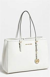 Michael Michael Kors Jet Set Large Travel Tote in White ...