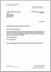 Kündigung Eigenbedarf Frist : k ndigung mietvertrag vorlage vermieter h user ~ Lizthompson.info Haus und Dekorationen