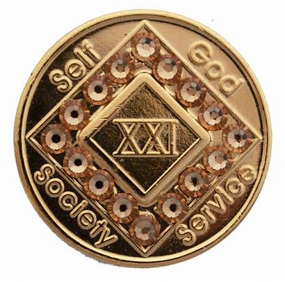 Medallion Recovery Anonymous Narcotics Anniversary Coin Bling