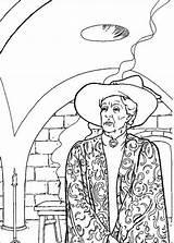 Harry Potter Coloring Colouring Sheets Mcgonagall Professor sketch template
