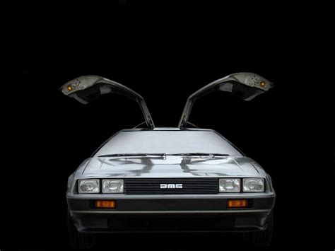 delorean wallpaper  hd backgrounds images pictures