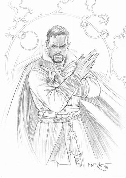 Strange Doctor Coloring Marvel Dr Drawing Artstation
