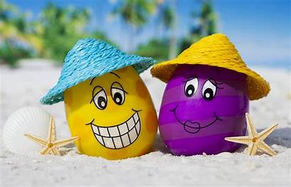 Summer Funny 4k Beach Wallpapers Happy Eggs